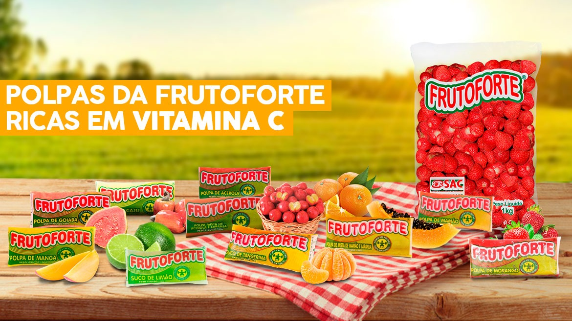 Veja as polpas da Frutoforte ricas vitamina C